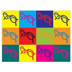 Optics Pop Art Wall Art Poster