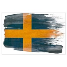 Sweden Flag Wall Art Poster