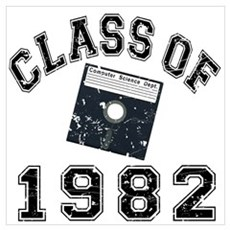Vintage Class Of 1982 Wall Art Poster