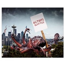 Octopi Seattle - Wall Art Poster