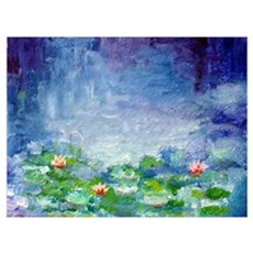 """Waterlilies"" Wall Art Poster"