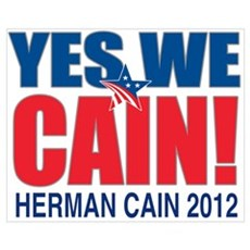 Herman Cain 2012 Wall Art Canvas Art