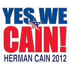 Herman Cain 2012 Wall Art Poster