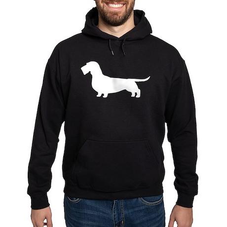 Wirehaired Dachshund Hoodie (dark)