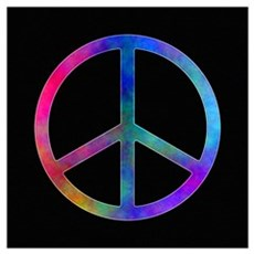 "Multicolor Peace Sign Poster 16"" X 16"" Poster"
