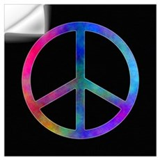 "Multicolor Peace Sign Poster 16"" X 16"" Wall Decal"