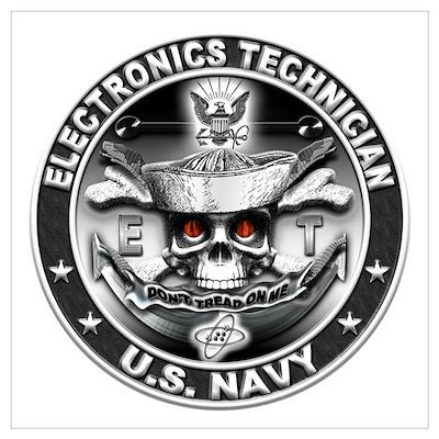USN Electronics Technician ET Wall Art Poster