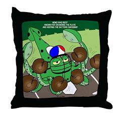 Squid Catcher Throw Pillow