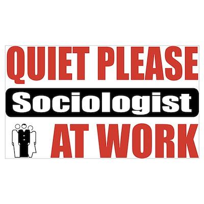 Sociologist Work Wall Art Poster