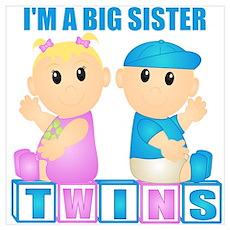 I'm A Big Sister (BBG:blk) Wall Art Poster