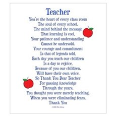 Teacher Thank You Wall Art Canvas Art