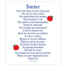 Teacher Thank You Wall Art Poster