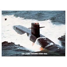 USS JAMES MONROE Wall Art Poster