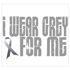 I Wear Grey For Me 16 Wall Art Framed Print