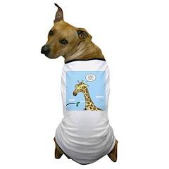 Giraffe Foraging Foibles Dog T-Shirt
