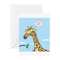Giraffe Foraging Foibles Greeting Card