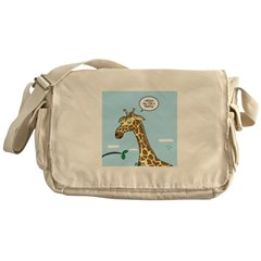 Giraffe Foraging Foibles Messenger Bag