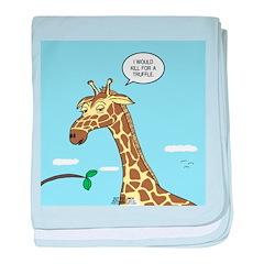 Giraffe Foraging Foibles baby blanket