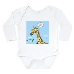 Giraffe Foraging Foibles Long Sleeve Infant Bodysu