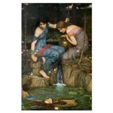 Nymphs Finding the Head of Or Wall Art Poster