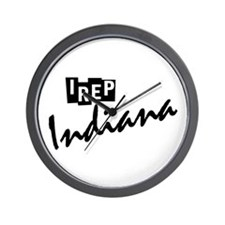 I rep Indiana Wall Clock