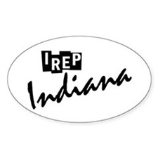 I rep Indiana Decal