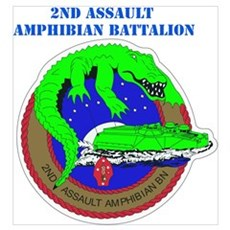 2nd Assault Amphibian Battalion with Text Mini Pos Poster