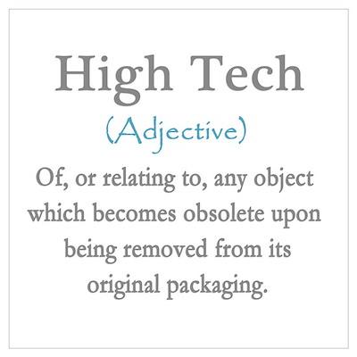 High Tech Definition Wall Art Poster