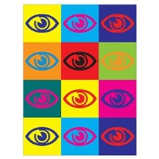 Optometry Pop Art Wall Art Poster