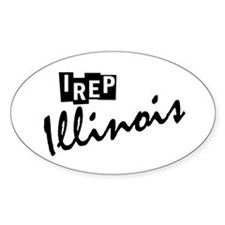 I rep Illinois Decal