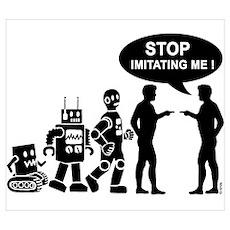 Robot evolution Wall Art Poster