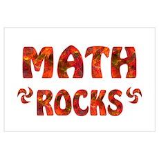 Math Rocks Wall Art Poster