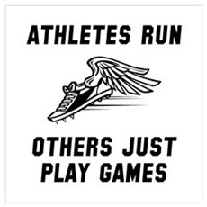 Athletes Run Wall Art Poster