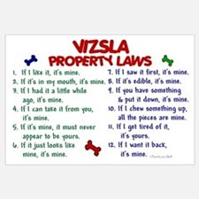 Vizsla Property Laws 2 Wall Art