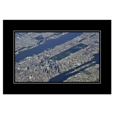Aerial Midtown Wall Art Framed Print