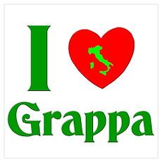 I Love Grappa Wall Art Poster