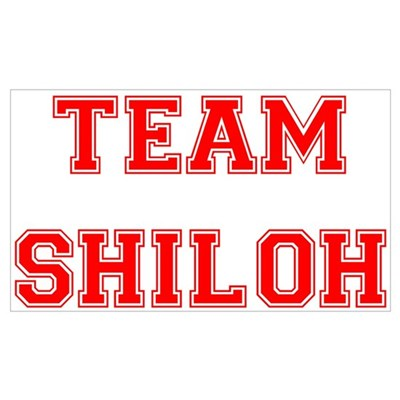 Team Shiloh Red Wall Art Poster