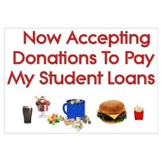 Student Loan Donations Wall Art Poster