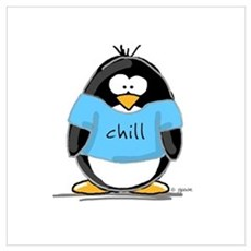 Chill penguin Wall Art Framed Print