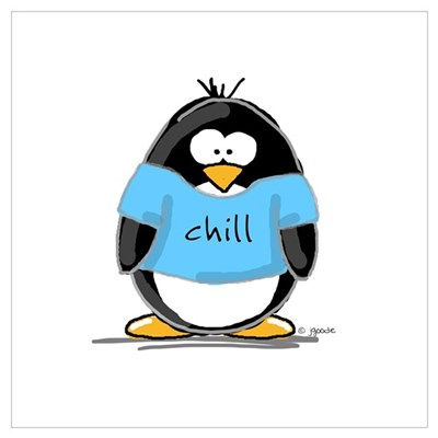 Chill penguin Wall Art Canvas Art