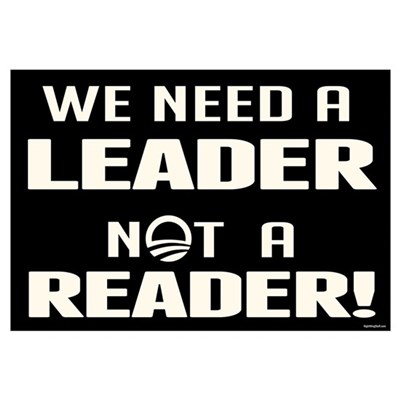 Leader Not Reader Wall Art Framed Print