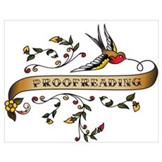 Proofreading Scroll Wall Art Poster