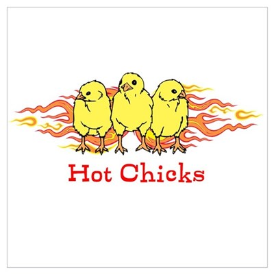 Hot Chicks Wall Art Poster