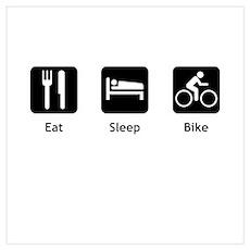 Eat Sleep Bike Wall Art Poster