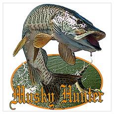 Musky hunter 9 Wall Art Poster