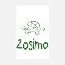 Green Turtle Zosimo Rectangle Decal