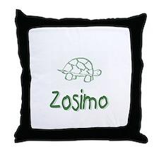 Green Turtle Zosimo Throw Pillow