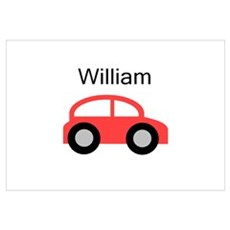 William - Red Car Wall Art Poster