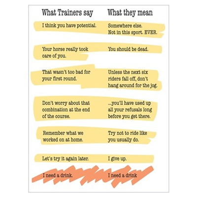 Trainer Quotes Wall Art Poster