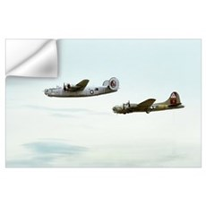 B-24 and B-17 Flying Wall Art Wall Decal